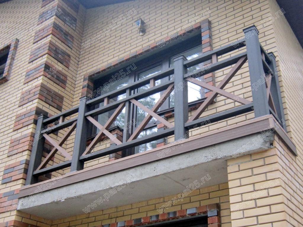 Декоративные ограждения террасы, перила дпк паллант - строит.